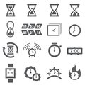 Time and clock icon set Royalty Free Stock Photo
