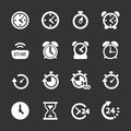 Time and clock icon set, vector eps10 Royalty Free Stock Photo