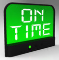 On time clock means punctual and not late meaning Royalty Free Stock Photos