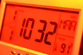 Time close up of a digital timer lcd Stock Photos