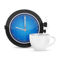 Time for coffee illustration design over a white background Stock Images