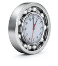 Time concept with the clock in the ball bearing Royalty Free Stock Images