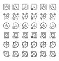 36 Time concept outline icon set. Icon for web and UI design.