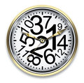 Time concept watch with chaotic numbers design Stock Images