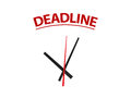 Time on Deadline Royalty Free Stock Photo