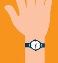 Time design over orange background illustration Stock Photography