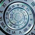 Time digits spiral Royalty Free Stock Image