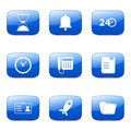 Time duration square vector blue icon design set Stock Photo