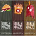 time fast food vector banners Royalty Free Stock Photo