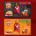 time fast food vector illustration Royalty Free Stock Photo