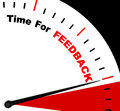 Time for feedback representing opinion evaluation and surveys represents Stock Image