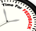 Time for feedback shows opinion evaluation and surveys showing Royalty Free Stock Photos