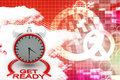 Time get ready illustration front angle view Stock Photos