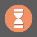 Time, Hourglass flat icon. Round colorful button, circular vector sign with shadow effect. Flat style design.