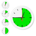 Time icons set of vector illustration Stock Photography