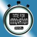 Time for innovation means creative development and ingenuity meaning Stock Photo