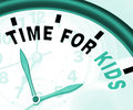 Time For Kiids Message Meaning Playtime Or Starting Family Royalty Free Stock Photo
