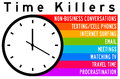 Time killers overview of the most important decreasing productivity Royalty Free Stock Photography