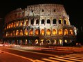 Time lapse photo at colosseum of the in rome night Stock Photo