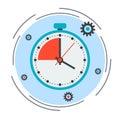 Time limit, deadline, countdown concept