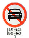 Time limit prohibition sign