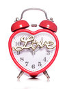 Time for love alarm clock studio cutout Stock Image