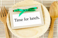 Time for lunch card Royalty Free Stock Photo
