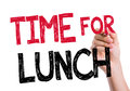 Time for lunch written on the wipe board Royalty Free Stock Photography