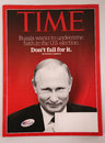 Time magazine with Vladimir Putin on front page issued before 2016 Presidential election