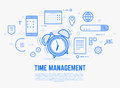 Time management alarm clock Royalty Free Stock Photo