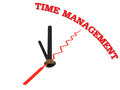 Time management concept clock closeup isolated Royalty Free Stock Photo