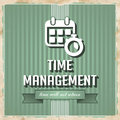 Time Management Concept in Flat Design. Stock Photos