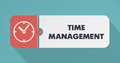 Time Management Concept in Flat Design. Stock Photography