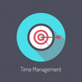 Time management illustration concept flat design modern vector poster of planning process and business metaphor is money Stock Photos