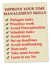 Time management improving your skills Royalty Free Stock Photos