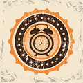 Time management over vintage background vector illustration Stock Images