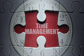 Time management puzzle concept Royalty Free Stock Photo