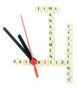 Time management puzzle Royalty Free Stock Photo