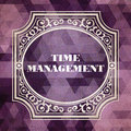 Time management vintage background concept design purple made of triangles Royalty Free Stock Photos