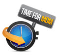 Time for mom concept and sign illustration design over white Royalty Free Stock Image