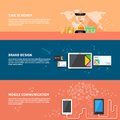 TIme is money, branding, communication concept set