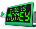 Time is money clock shows valuable and important showing resource Royalty Free Stock Images