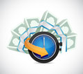 Time is money concept illustration design over a white background Stock Photography