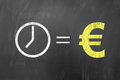 Time is money, european concept Royalty Free Stock Photo