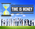 Time Money Hour Glass Business People Concept Royalty Free Stock Photo