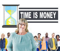 Time Money Hour Glass Casual People Concept Royalty Free Stock Photo