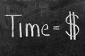 Time is money sign Royalty Free Stock Photo