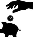 Time is money vector illustration Royalty Free Stock Photos