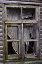 Time old abandoned house window frame Royalty Free Stock Photography
