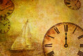 Time passing, abstract vintage motive Stock Images